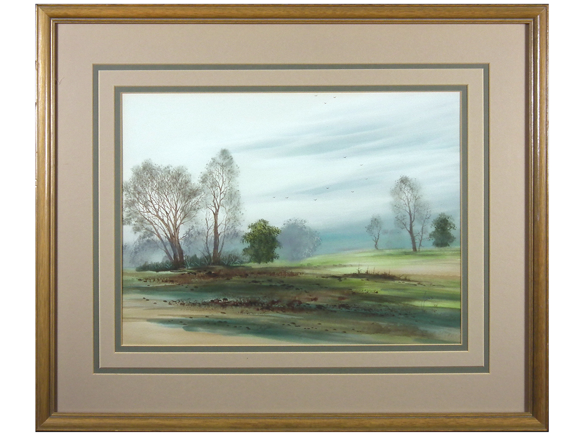 Landscaping Woodland Wa : Saddleback fine art watercolours gouache buy