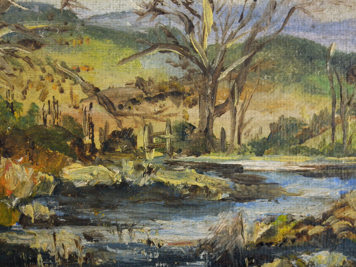 A Cartwright, Woodland Landscape, Oil on board