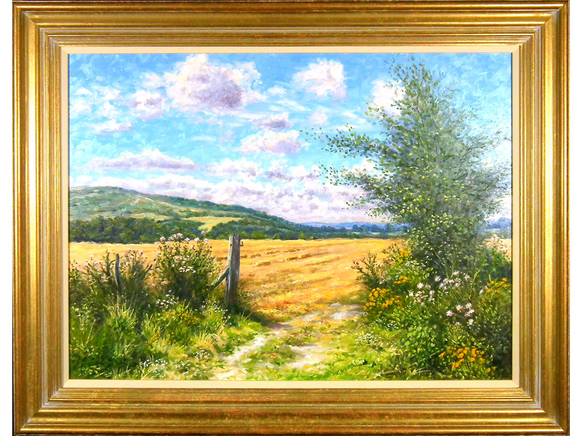 Mervyn Goode, A Fresh Summers Day Below The Downs, Oil on Canvas