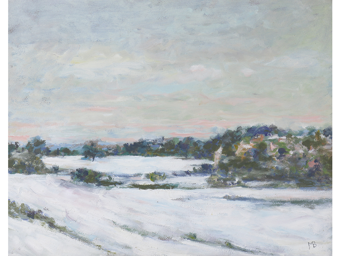 Molly Broughton Bailey, Winter Landscape Oil Painting