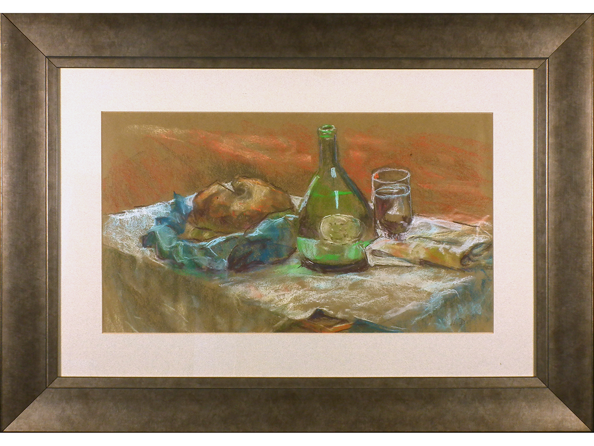 Still Life 'Bread & Wine'