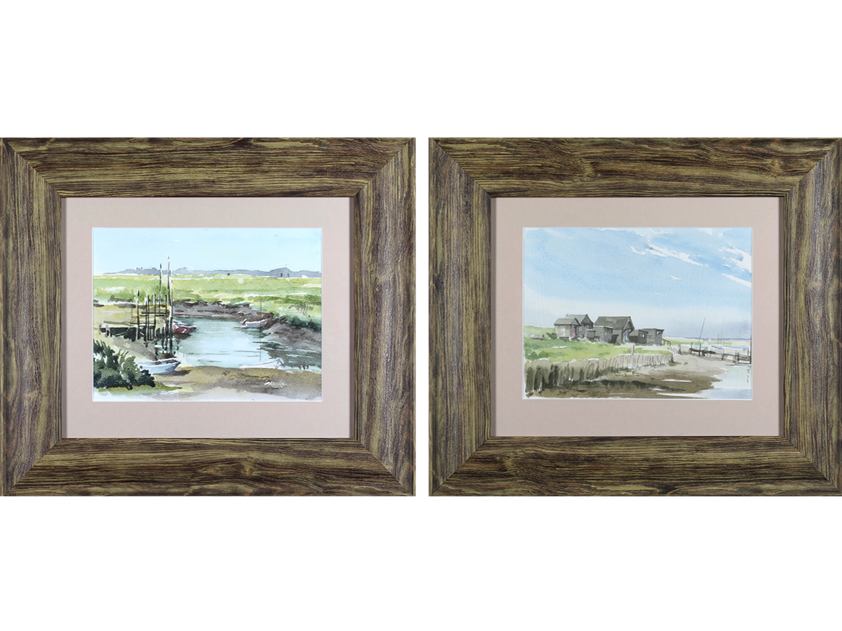Walberswick, Suffolk Estuary Landscapes (Pair)